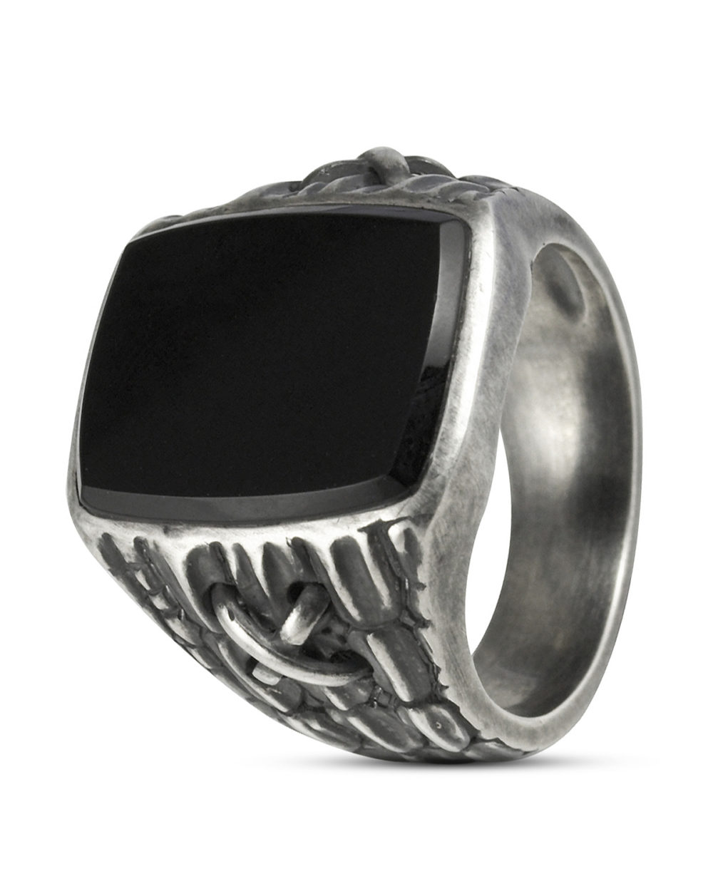 ca?, Ring aus 925 Sterling Silber mit Onyx 67