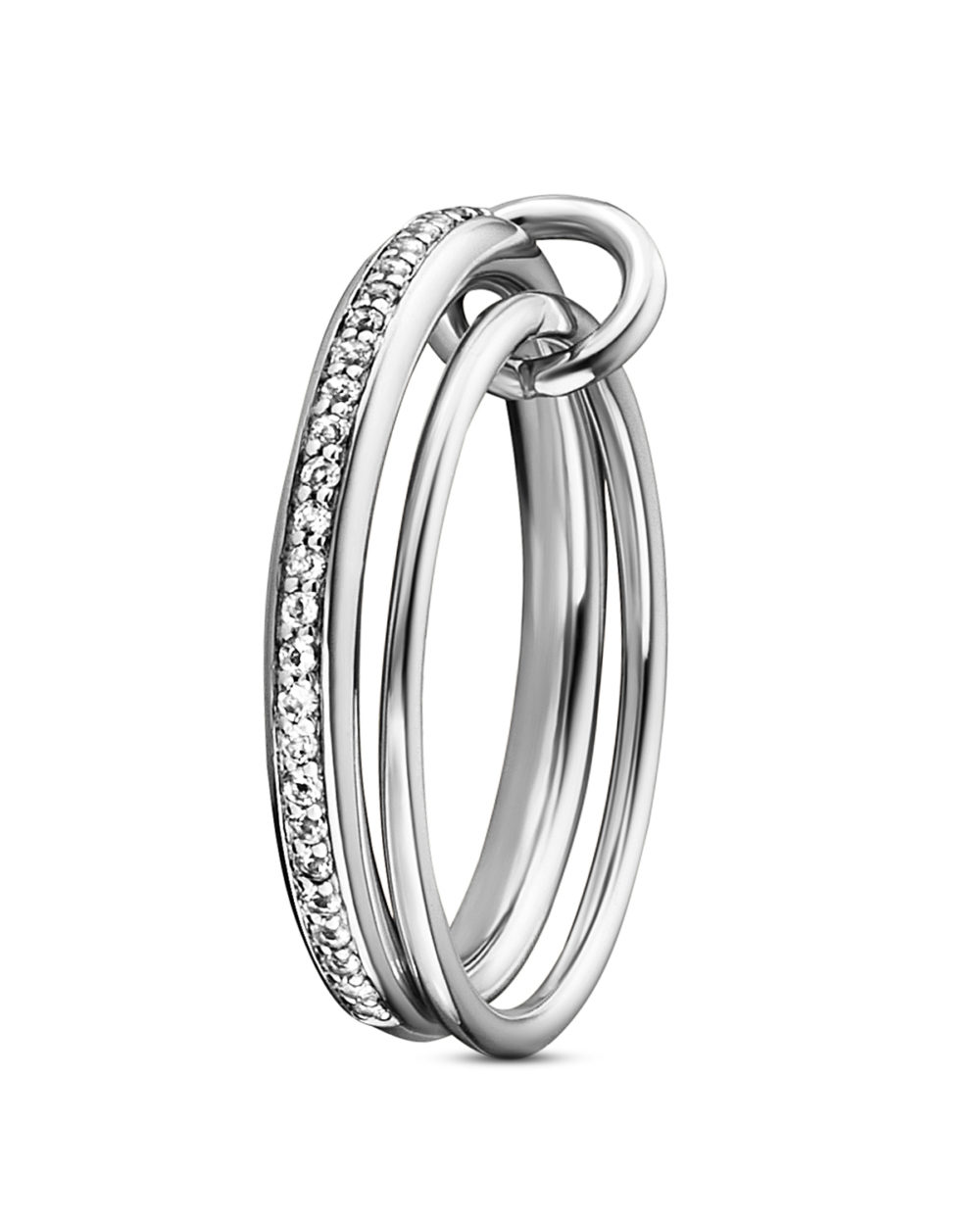 ca?, Ring Linked In 925 Sterling Silber mit Topasen 56