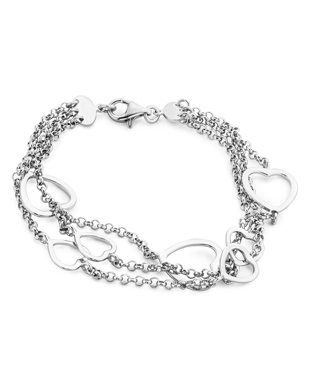 Anna Malou, Armband 'Herz' aus 925 Sterling Silber