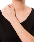 Armband Hana 925 Sterling Silber allesausliebe by milla k blau,gold Chalcedon 4250945505726