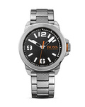 Quarzuhr New York 1513153 BOSS Orange schwarz,silber 7613272161671