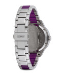 Quarzuhr Time Marin Marin Lucent Speed Purple ES106202006 Esprit Damen Edelstahl 4891945165819