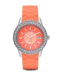 Quarzuhr Time Marin Marin Glints Coral ES106212004 Esprit orange,silber 4891945165888