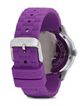 Quarzuhr Time Marin Marin Glints Purple ES106212005 Esprit Damen Silikon 4891945165895