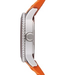 Quarzuhr Time Marin Marin 68 Orange ES105342005 Esprit Damen Silikon 4891945151423