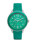 Quarzuhr Time Marin Marin 68 Speed Green ES105332007 Esprit grün,silber 4891945151348
