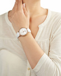 Quarzuhr Collection Time Maia Rose Gold White EL101972F04 Esprit Collection Damen Leder 4891945168544
