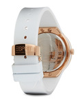 Quarzuhr Collection Time Eunomia Rose Gold White EL101982F05 Esprit Collection Damen Silikon 4891945168636