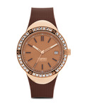 Quarzuhr Collection Time Eunomia Brown EL101982F06 Esprit Collection braun,roségold 4891945168643