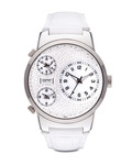 Quarzuhr Collection Time Polydora Daylight EL900482001 Esprit silber,weiß 4891945113957