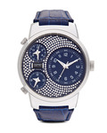 Quarzuhr Collection Time Polydora Blue EL101292F07 Esprit Collection blau,silber 4891945161361