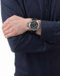 Chronograph Collection Time Uranos Black EL900211001 Esprit Collection Herren Leder 4891945114596