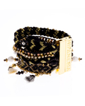 Armband Onyx Metall HIPANEMA 4250945507386