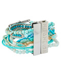 Armband Aqua aus Messing, Stoff & Harz HIPANEMA 3700839111867