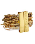 Armband Ohmygold aus Messing & Stoff HIPANEMA 3700839112970