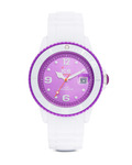 Quarzuhr Ice-Solid Unisex SIWVUS11 Ice Watch violett,weiß 4895164001125