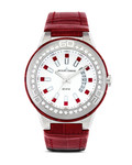 Quarzuhr MIAMI 1-1776J JACQUES LEMANS rot,silber 4040662118732