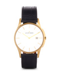 Quarzuhr London 1-1777Q JACQUES LEMANS gold,schwarz,silber 4040662116004