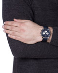 Chronograph London 1-1654C dunkelblau JACQUES LEMANS Herren Leder 4040662116486