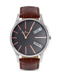 Quarzuhr London 1-1788D JACQUES LEMANS braun,grau,silber 4040662117025