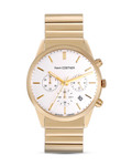 Chronograph Kevin Costner KC-103E JACQUES LEMANS gold,weiß 4040662123262