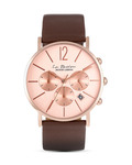 Chronograph La Passion LP-123D JACQUES LEMANS braun,roségold 4040662126089