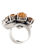 Ring To Katharine With Love Messing KONPLOTT braun Swarovski-Stein 5450543137469