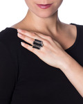 Ring Manhattan Rocks Messing KONPLOTT klar,silber Swarovski-Stein 5450543165356