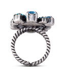 Ring Liam Messing KONPLOTT blau,silber Glas 5450543247151