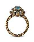 Ring Byzantine Messing KONPLOTT gold,grau Glas 5450543243986