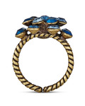 Ring Magic Fireball aus Messing KONPLOTT blau,braun Glas 5450543247960