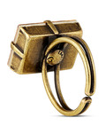 Ring Art Deco Oriental aus Messing KONPLOTT beige,gold Glas 5450543278551