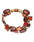 Armband Checks Oval aus Messing KONPLOTT braun,gold,orange Glas 5450543290584