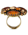 Ring Orchid Hybrid aus Messing KONPLOTT gold,orange Glas 5450543297378