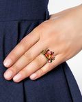 Ring Waterfalls mit Swarovski-Steinen KONPLOTT gold,orange,rot Swarovski-Stein 5450543301006