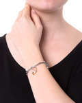 Armband Edelstahl Lotus Style roségold,silber Glas 8430622588242