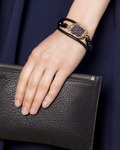 Armband Dore Glas Sweet Deluxe gold,schwarz Glas 4052478043436