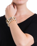 Armband EVERgrün COLLECTION Messing TATABORELLO gold,mehrfarbig Glas 4250945503135
