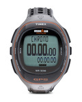 Digitaluhr Ironman Run Trainer GPS T5K575 TIMEX grau,schwarz 753048399697