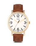 Quarzuhr Originals Oversized T2P527 TIMEX beige,braun,gold 753048528639