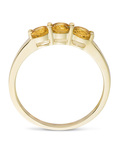Ring aus 375 Gold mit Citrinen VALERIA gold,orange Citrin