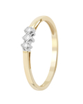 Ring aus 375 Bicolor-Gold mit 0.1 Karat Diamanten VALERIA
