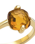 Ring aus 375 Gold  VALERIA gold,orange Quarz