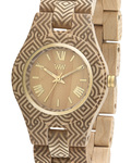 Quarzuhr Criss Art Arabesque Beige WEWOOD Damen Holz 610373988913
