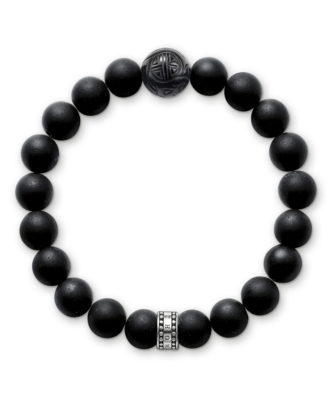 Armband Rebel at heart mit Obsidianen