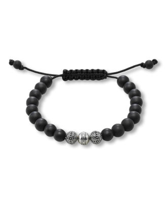 Armband Rebel at Heart aus 925 Sterling Silber mit Obsidianen