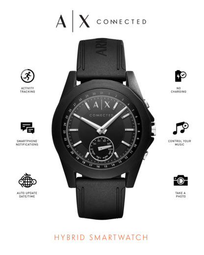 Hybrid-Smartwatch AXT1001 ARMANI EXCHANGE CONNECTED Damen,Herren Silikon 4053858830424