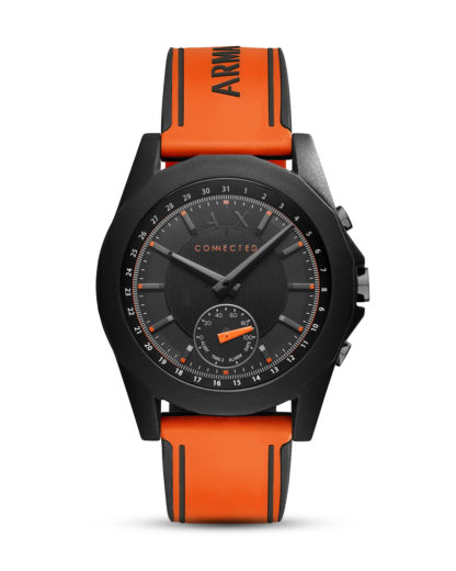 Hybrid-Smartwatch AXT1003 ARMANI EXCHANGE CONNECTED orange,schwarz 4053858830448