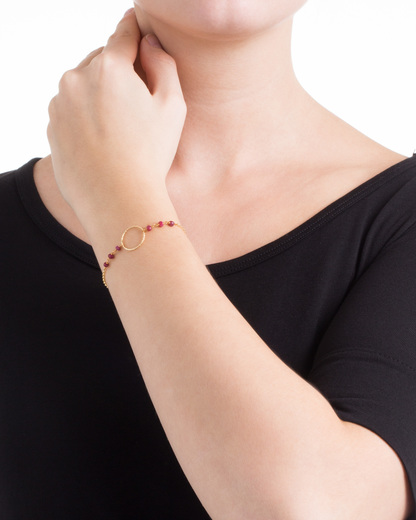 Armband Sarah 925 Sterling Silber allesausliebe by milla k gold Granat 4250945502442