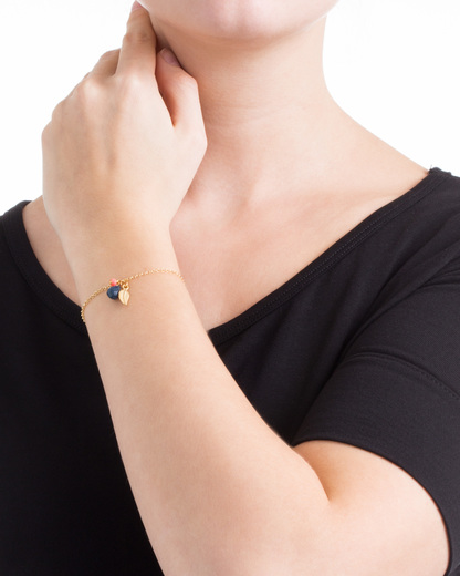 Armband Mimi 925 Sterling Silber allesausliebe by milla k gold Chalcedon,Koralle 4250945502459